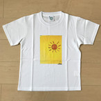 オールドTシャツ企画 スクエアプリントT オレンジ太陽no2 SSサイズ