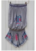 ◆Mon ange Louise◆ EMBROIDERY COMBI SHORT(grey)ビーチドレス オールインワン