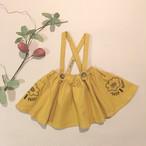 刺繍サスペンダースカート