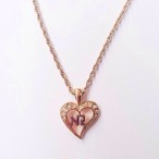 """NINA RICCI"" heart necklace[n-361]"