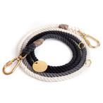 FOUND MY ANIMAL-BLACK OMBRE COTTON ROPE DOG LEASH, ADJUSTABLE(ファウンドマイアニマル・ブラック・オンブレ・コットン・ロープ・リーシュ・アジャスタブル)