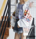 2019 夏 レディース 新作 アウター ジャケット ブルゾン メッシュ 白 黒 原宿 日焼け防止 オルチャン 韓国ファッション 777