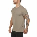 【ASRV】CottonPlus™ メッシュバックロールスリーブTシャツ - Greige