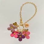 4flowersバッグチャームNo204ピンクカラー
