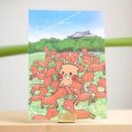 【ロク】奈良公園ポストカード