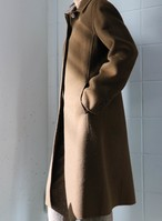 DKNY brown balmacaan coat