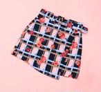 『Lyn around』Check Flower skirt