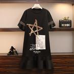 【dress】スパンコール飾り若見え個性デザインフィッシュテールワンピース 22403836