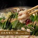 豆乳味噌もつ鍋セット 2~3人前×2セット(送料込)