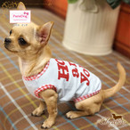 9。Paris Dog【正規輸入】犬 服 Tシャツ ブルー グレー 春 夏 秋物