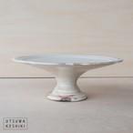 [古谷 浩一]彫刻コンポート皿 18cm(粉引)