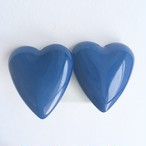 blue heart earring[e-842]