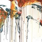 絵画 インテリア アートパネル 雑貨 壁掛け 置物 おしゃれ 抽象画 現代アート ロココロ 画家 : tamajapan 作品 : t-33  /  tamajapan