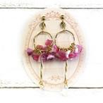 【エノモト】花束と雫のイヤリング/イヤリング