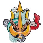 "labarbuda""MERMAID AND TRIDENT REFUSE TO SINK PATCH BY LA BARBUDA"""