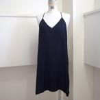 【hippiness】cupro  Vneck semi long camisole(black) /【ヒッピネス】キュプラVネックセミロングキャミソール(ブラック)