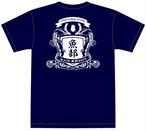 魚部Tシャツ2017・洋風エンブレム(ネイビー)