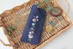 刺繍のメガネケース(デニム・ナチュラル)