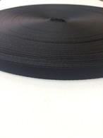 ナイロンテープ  流綾織  10mm幅  1.1mm厚 黒  1m