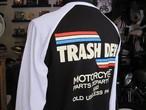 TRASH DEPT オリジナル ロンT タイプC ブラック/ホワイト