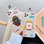 グリップ付き Cute bread iphone case