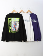 LikeリフレクティブMTM ★UNISEX MTM トレーナー 韓国ファッション