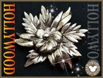 英国HOLLYWOOD★重厚なメタル彫金 ヴィンテージスコティッシュフラワーブロー