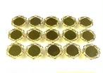 UVレジン枠 丸皿 (小) ゴールド色 15個セット ミール皿 SA-P899