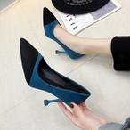 【shoes】パンプス気質抜群配色大人っぽい合わせやすい