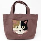 猫トートバッグ(ファミネコトート)ブラウン