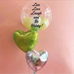 【送料無料・オーダーメイド】Message balloon LIME&SILVER