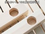 196ひのきのキャンプ用品 KUROSON370 370-F用 ウッドテーブル アジャスター(2本) テーブルの高さをそろえるアジャスター 196hinoki-075