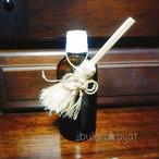 国産 野州 精麻 箒 ほうき飾り 手乗りほうき ストラップ付き箒 縁起物 黄金の精麻