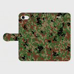 陸上自衛隊 迷彩2型 手帳型スマホケース