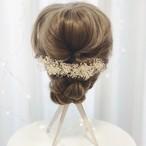 かすみ草のヘッドドレス ✲ ウェディング ブライダル 成人式 着物 髪飾り ヘアパーツ
