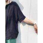【hippiness】cupro wide Tshirt (black)/【ヒッピネス】キュプラ ワイド Tシャツ(ブラック)