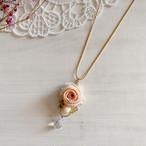 【*Hanairo】玉薔薇のネックレス(ピンク)