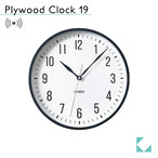 KATOMOKU plywood clock 19 km-111BRRC ブラック 電波時計