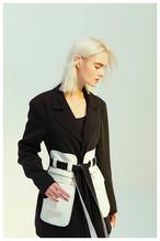 ホワイトポケットベルトジャケット 韓国ファッション