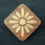 wooden inlaid charm IB-041-WT