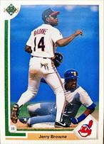 MLBカード 91UPPERDECK Jerry Browne #116 BRAVES