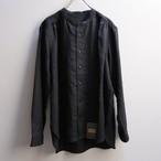 ASEEDONCLOUD アシードンクラウド HW ハンドベーカー collarless shirts linen black