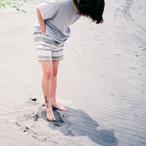 399002_ハニカム ショーツ(アイボリーxSグリーン)