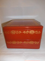 漆二段重重 two-tiered lacquer ware box(vermilion color)