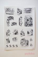 耐水シール 「不思議の国のアリス」テニエルによるイラスト
