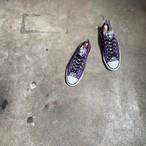 Vintage Converse コンバース オールスター ローカット スニーカー ヒョウ柄 紫 24cm