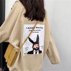 back printed loose t shirts 3390