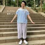 パネルボーダーTシャツ   WideボートネックTシャツ 12C56 サイズ3
