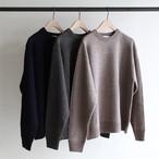 STILL BY HAND【 mens 】wool silk  crew neck knit