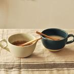【SLSET-0018】陶器 片口カップ セット ネイビー×アイボリー